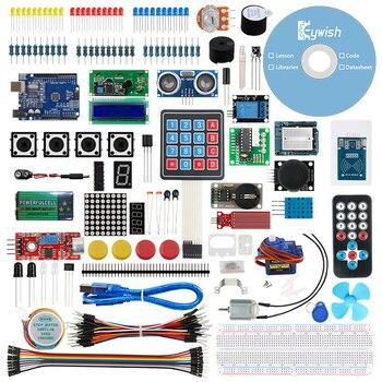 Kit de démarrage Keywish pour Arduino UNO IDE Kit de bricolage support Mixly, programmation graphique Mblock Scratch, avec 30 cours pour UNO R3