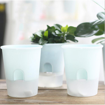 Home Office Hydroponic Plant Plastic Flower Pot PP Material Double Cup Self-Watering Absorption Lazy Flower Pot Plant Holder цена 2017