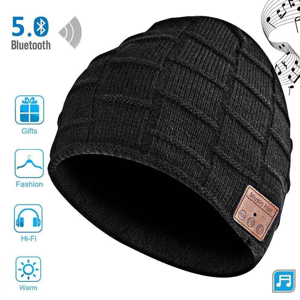 Wireless Bluetooth Beanie Headset Hat, Smart Beanie Headphones Winter Knit Hat Musical Knit Headphones Cap For Fitness Outdoor S