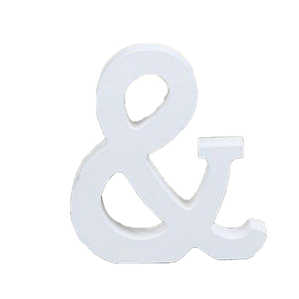Diy Freestanding Letters Ornament 8cm High White Wooden English Letter Ornament Home Wedding Decoration Shooting Props