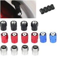 Bouchons de tige de Valve de roue de voiture en aluminium, 4 pièces, pour bmw F10 F20 F25 F30 F31 E36 E39 E87 E60 E46 E90 X1 X3 X5 E53 M