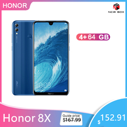 Honor 8X 6.5 inch Mobile Phone 4GB+64GB Android 8.1 20MP Octa Core Screen Fingerprint ID 3750mAh Battery Smartphone