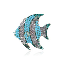 Crystal fish Brooches for women Fashion Jewelry dress coat Accessories cc brooch gifts for women hijab pins Brooch enamel pin brooches for women hijab pins fashion jewelry cc brooch gifts for women high end wedding brooch dress accessories enamel pins