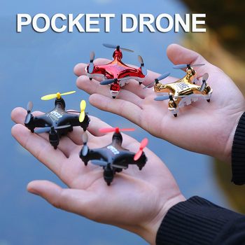 Pocket Drone 4CH 6Axis Gyro Quadcopter camera With Switchable Controller RTF Remote Control Helicopter Toys Gift For Children 2016 new 100% original rc aircraft udi u818a 2 4g 6 aixs gyro 4ch remote control helicopter quadcopter drone with camera