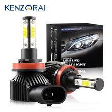 2Pcs 10000LM 4 Sides Shine Large Area h7 LED h11 Chip Car Headlight Light Bulb h8 h9 9005 hb3 h10 9006 hb4 Auto Fog Lamp 50W 12V