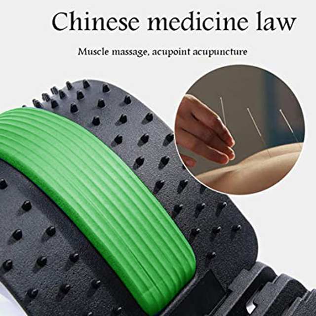 Back Stretch Equipment Massager Massageador Magic Stretcher Fitness Lumbar Support Relaxation Spine Pain Relief 1