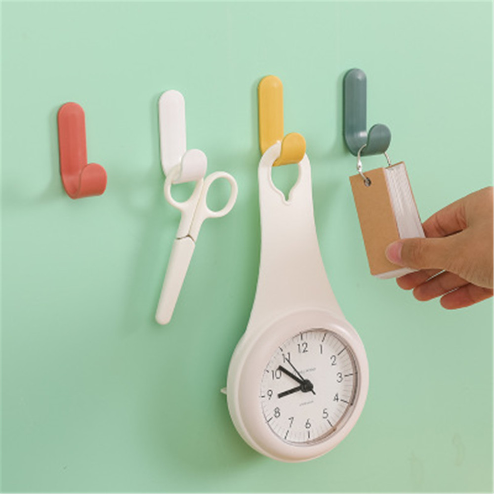 4Pcs/set Strong Self Adhesive Door Wall Hangers Towel Mop Handbag Holder Hooks For Hanging Kitchen Bathroom Accessories