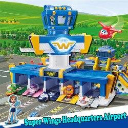 Super Vleugels Internationale Luchthaven Hoofdkwartier Scène Set Super Fly Man Actiefiguren Speelgoed voor kinderen Jongen Controle Toren 2A11