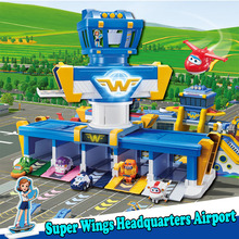 Super Wings International Airport Headquarters Scene Set Super Fly Man Action Figures Toys for Childrens Boy Control Tower 2A11