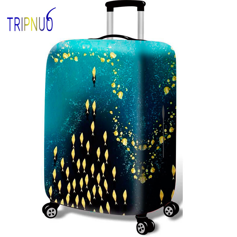 TRIPNUO Yellow Whale Group Luggage Protective Cover Suitcase Case Travel Accessorie Elastic Luggage Cover For 18-32inch Suitcase