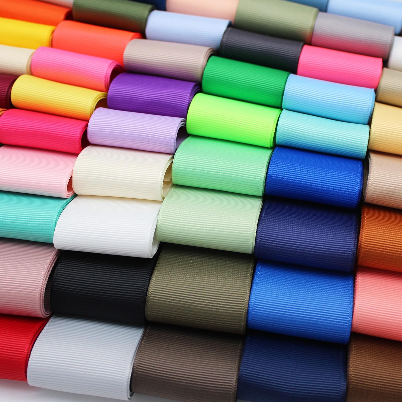 Корсажная лента 5 метров разных цветов, ленты из полиэстера для украшений «сделай сам», аксессуары для рукоделия, 1/4 дюйма, 1 дюйм, 1-3/8 дюйма, 6 ...