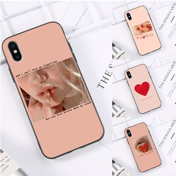 Pink Aesthetics songs lyrics Aesthetic Phone Case cover Shell for iPhone 11 pro XS MAX 8 7 6 6S Plus X 5 5S SE XR casese 2020 image