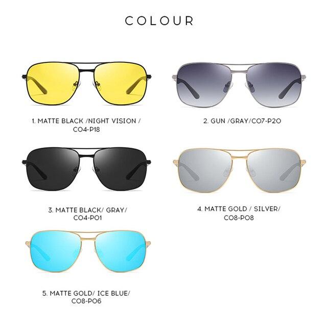 2020 Classic Square Polarized Sunglasses Vintage Men Designer Big Sunglasses Night Driving Sun Glasses UV400 Protection 4