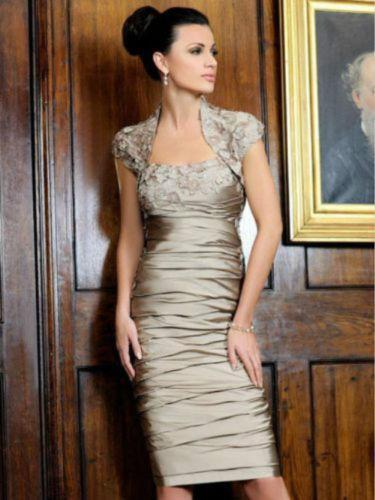 Free Shipping 2016 New Fashion Vestido De Madrinha Festa Longo Sexy Short Coffee Party Gown Jacket Mother Of The Bride Dresses