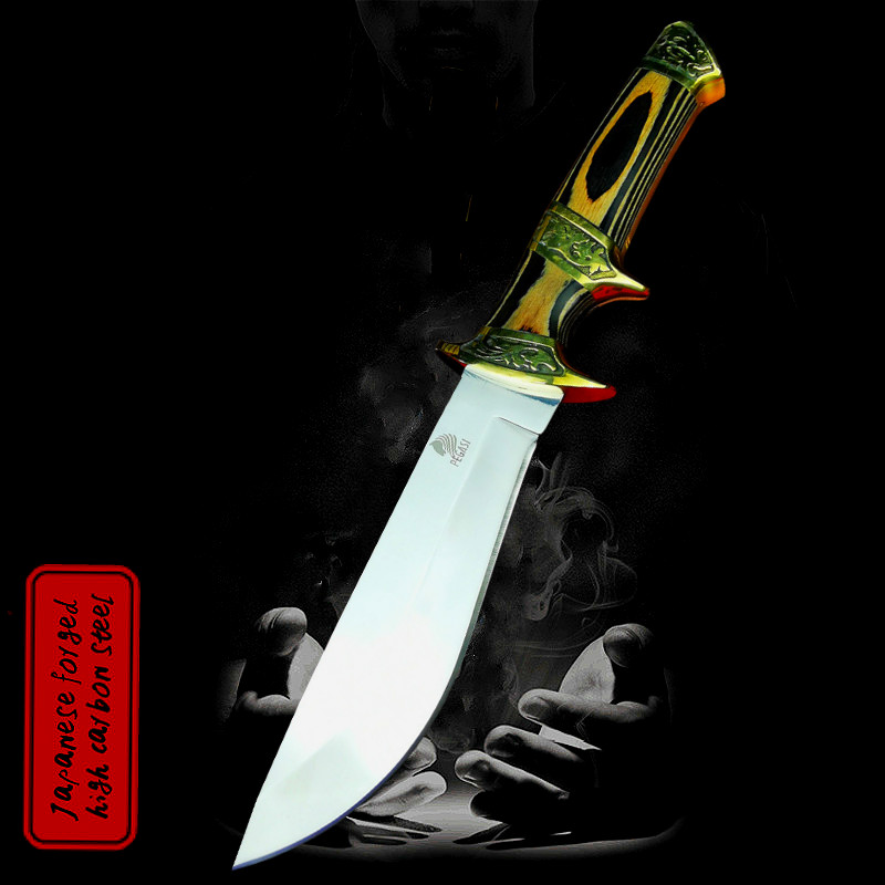 Outdoor hunting knife 60 HRC  9CR18MOV  steel sharp tactical straight knife Finnish hunter specifies the original knife