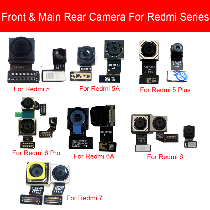 Front & Rear Main Camera Flex Cable For Xiaomi Redmi 5 5A 6 6A 7 Pro Plus Back Big Samll Facing Camera Replacement Parts