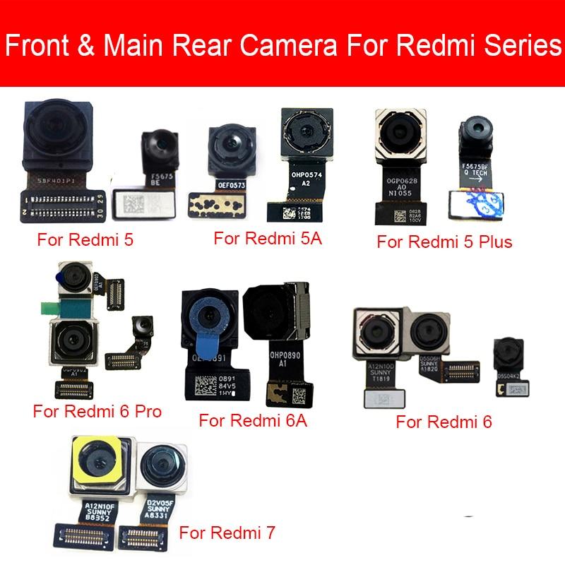Front & Rear Main Camera Flex Cable For Xiaomi Redmi 5 5A 6 6A 7 Pro Plus Back Big Samll Facing Camera Replacement Parts