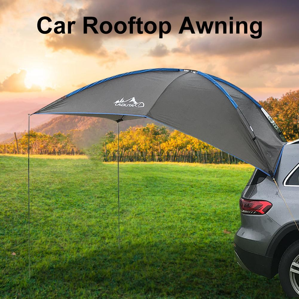 5-6 Persons SUV MPV Car Tail Tent Ourdoor Waterproof Auto Awning Trailer Beach Sunshade For Self-driving Travel Camping