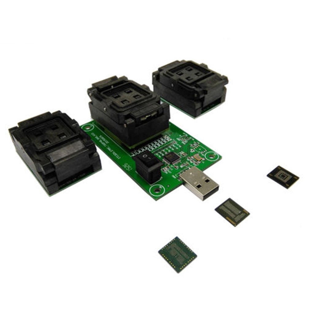 EMMC EMCP Programmer Chip Test Socket 3 In 1 USB Reader Adapter For BGA153/169/162/186/221 Data Recovery