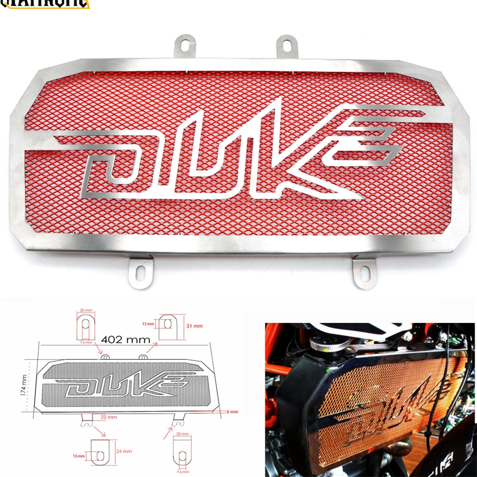for KTM Duke 390 2013 2014 2015 Duke 125 200 Motorcycle CNC Radiator Grill Black Guard Cover Protector Radiator protectio image