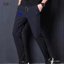 Daiwa, хлопковые однотонные мужские штаны для рыбалки, зимние, на шнурке, для рыбалки, дышащие, для походов, спортивные штаны, термо, не садятся, одежда для рыбалки