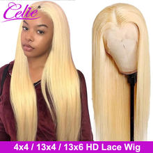 Perruque Lace Frontal Wig 613 naturelle – Celie, cheveux lisses, blond 613, 4x4, 13x4, 13x6, avec Closure, HD 613