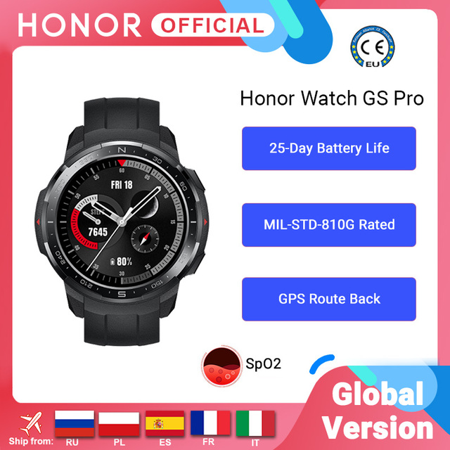 Global Version Honor Watch GS Pro Smart Watch SpO2 Smartwatch Heart Rate Monitoring Bluetooth Call  5ATM  Sports Watch for Men 1