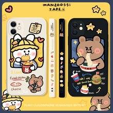Dễ Thương Hoạt Hình Gấu Thỏ Động Vật Ốp Lưng Điện Thoại Iphone 12 Pro Max 12 11 Pro XR XS Max X 8 7 Chống Sốc TPU Mềm Đáng Yêu Lưng