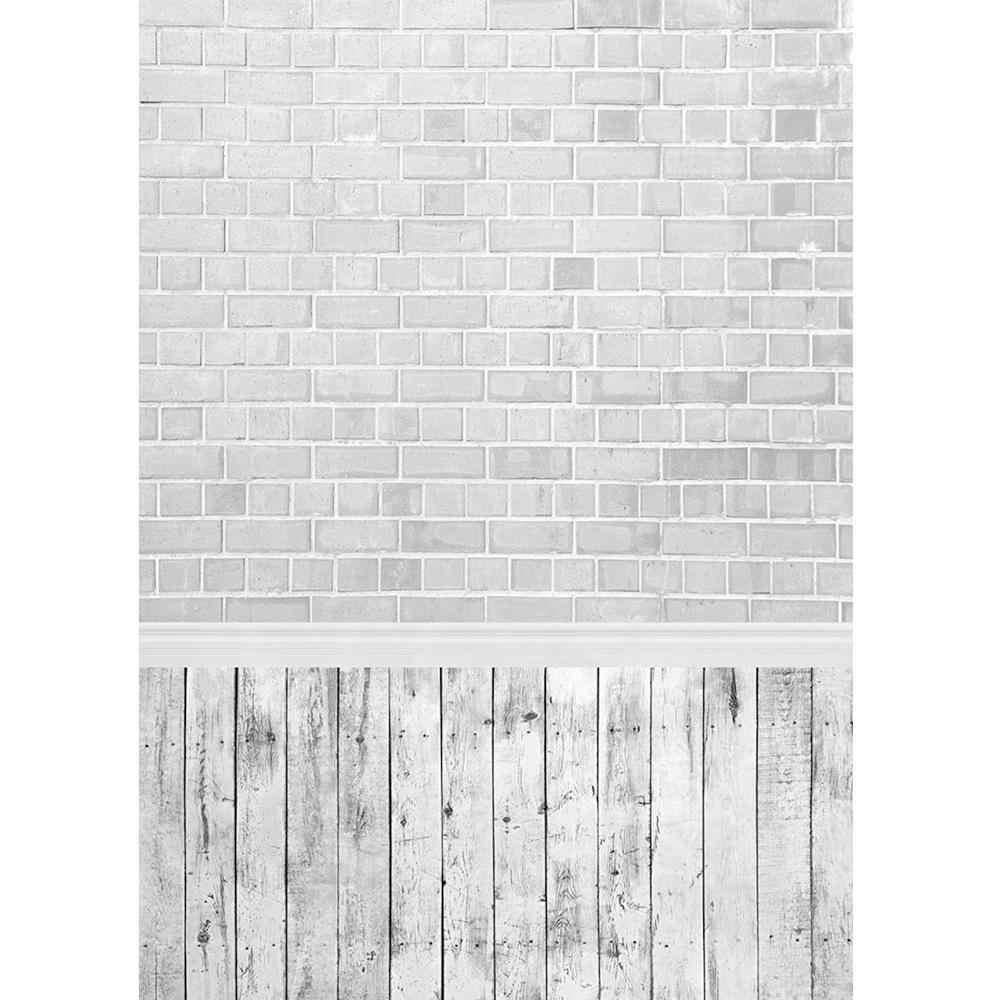 Chụp Ảnh Nền Trắng Tường Gạch Sàn Gỗ Tùy Chỉnh Phông Nền Phòng Thu Cho Bé Bé Thú Thích Chụp Ảnh Để Chụp