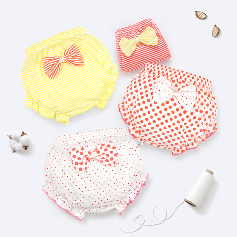 Baby Underpants Cotton Toddler Underwear Girl Bread Pants Newborn Diaper Cover Baby Stripe Bloomers Shorts Infant Clothes Gift
