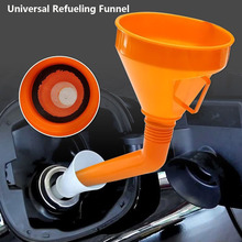 145mm Universal Car Motorcycle Truck Fuel Tank Pour Oil Tool Petrol Plastic Filling Funnel with Built In Strainer Fuel Saver