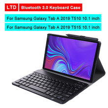 Buy Bluetooth 3.0 Tablet Keyboard Case For Samsung Galaxy Tab A 2019 T510/T515 10.1 inch Mediapad Flip Leather Protective Cover directly from merchant!