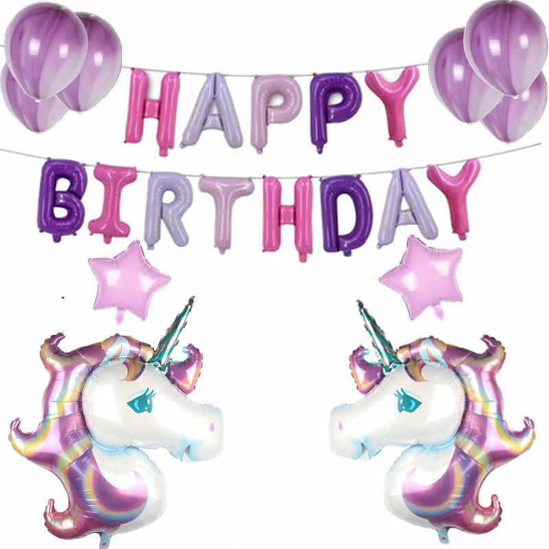 XXYYZZ Unicórnio Unicórnio Rosa Balão de Látex Balão de Festa Decoração de Aniversário das Crianças Produtos