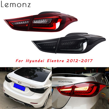 Assembly Rear Tail Lights For Hyundai Elantra 2012 2013 2014 2015-2017 LED Running Brake Reverse Dynamic Turn Signal Taillights