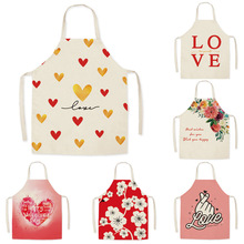 Apron Female Cute Korean Style Adult Household Kitchen Skirt Waterproof and Oil-Proof Personality Work Clothes garden apron