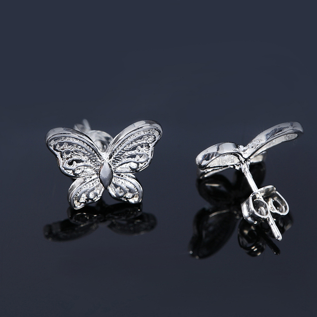 Hot Sale 925 Silver Fashion Jewelry Hollow Small Butterfly Earrings For Women Gift.jpg 640x640 - Hot Sale 925 Silver Fashion Jewelry Hollow Small Butterfly Earrings For Women Gift