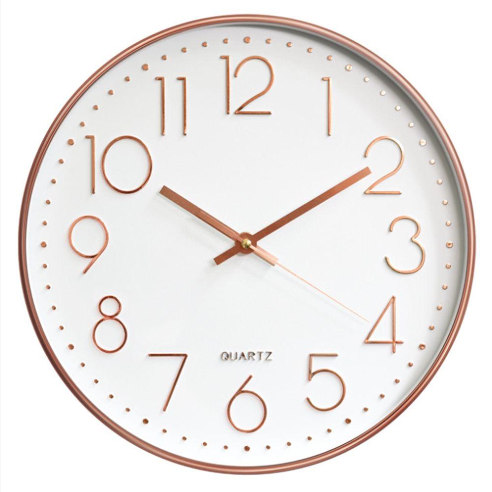 12inch Silent Quartz Wall Clock Quiet Sweep Movement No ticking Hanging Clocks Modern Watches Home Art Decor for Living Room|Wall Clocks| |  -