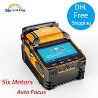 Free Shipping Six motors AI 9 Automatic SM&MM Multi language Intelligent Fusion Splicer FTTH Welding Splicing Machine