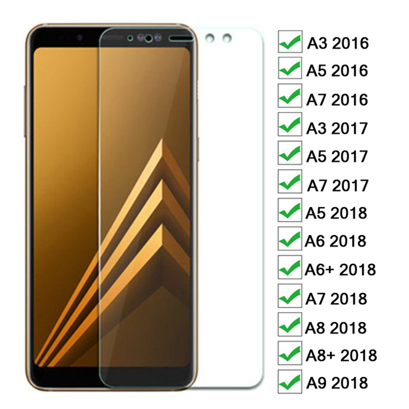 3D Protective Glass On The For Samsung Galaxy A3 A5 A7 2016 2017 A6 A8 Plus A5 A7 A9 2018 Tempered Glas 9H Screen Protector Film