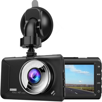 Car DVR Dash Camera Rear View Dual Camera 1080P 3.2 Full HD Cycle Recording Night Vision Dash Cam Video Recorder Dashcam image