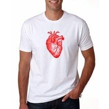 Vintage marca Anatomía del corazón camiseta para hombre estampada Cool T camisas de manga corta cuello redondo los hombres Camiseta Tee camisa Mujer