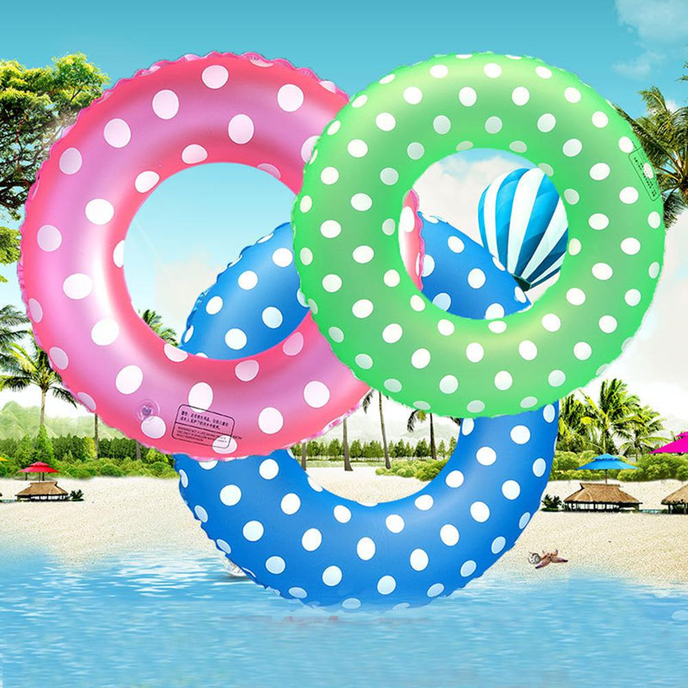 Colored Dots Summer Swimming Ring Inflatable Pool Water Float Raft For Kids Adult - COLOR RANDOM