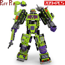 709pcs 6in1 Deformationed Mech Robot Autobots Building Block Set Legoingly City Car Vehicle Bricks Construction Toy for Children(China)