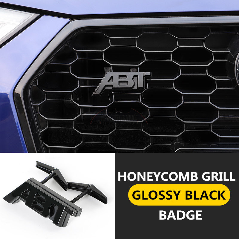 3D Adhesive ABT Grill Badge For AUDl A3 8V A4 A5 A6 A7 A8 RS3 RS4 RS5 Honeycomb Hood Hex Mesh Grill ABT Sportsline Side Sticker