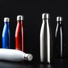 350/500/750/1000 ml bpa-livre garrafa térmica dupla-camada de isolamento garrafa de vácuo garrafa de água de aço inoxidável garrafa de esportes
