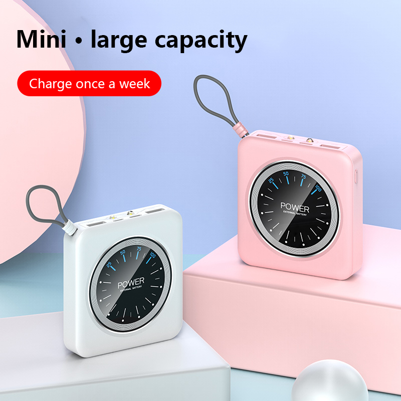 Portable 10000mAh Power Bank Charging With Dual USB Ports For Xiaomi Phones 5