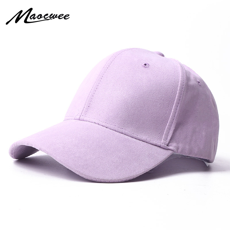 Suede Baseball Cap Snapback Adjustable Breathable Dad Hats For Women And Men Unisex Soft Faux Suede Casual Solid Color Sport Hat