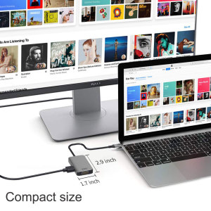 Image 5 - WIWU 5 in 1 USB Hub Multi Ports VGA HDMI Adapter for MacBook Pro Type C Hub 3.5mm Audio USB Splitter for Samsung Huawei USB Hub