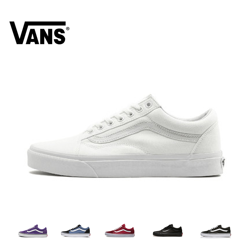 VANS OLD SKOOL Men And Women Skateboard Shoes Multicolor Original Authentic Outdoor Sports Classic Leisure Series VN000D3HW00