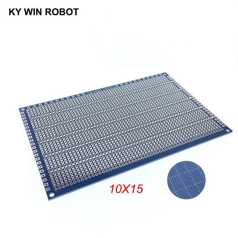 1pcs DIY 10*15CM Blue Single Side Prototype Paper PCB Universal Experiment Matrix Circuit Board 10x15CM For Arduino